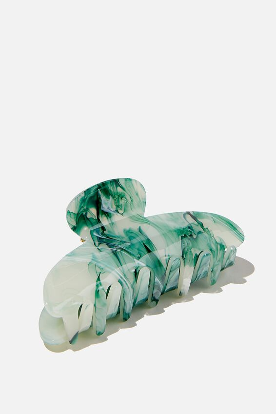 Morgan Hair Claw, SAGE MARBLE
