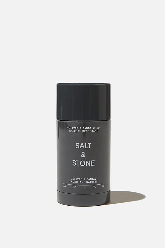Salt & Stone Deodorant, VETIVER LEMONGRASS SANDALWOOD