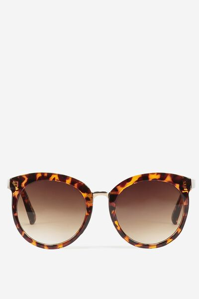 Mia Full Frame Sunglasses, TORT