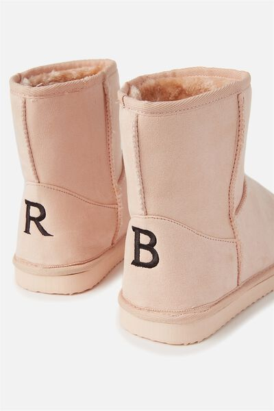Personalised Short Home Boot, FROSTED PEACH