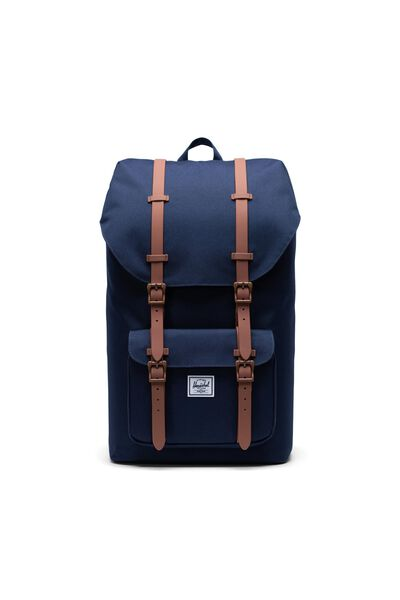 Herschel Little America Backpack, PEACOAT/SADDLE BROWN