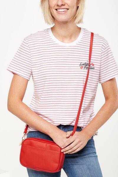 Cameron Cross Body Bag, RED