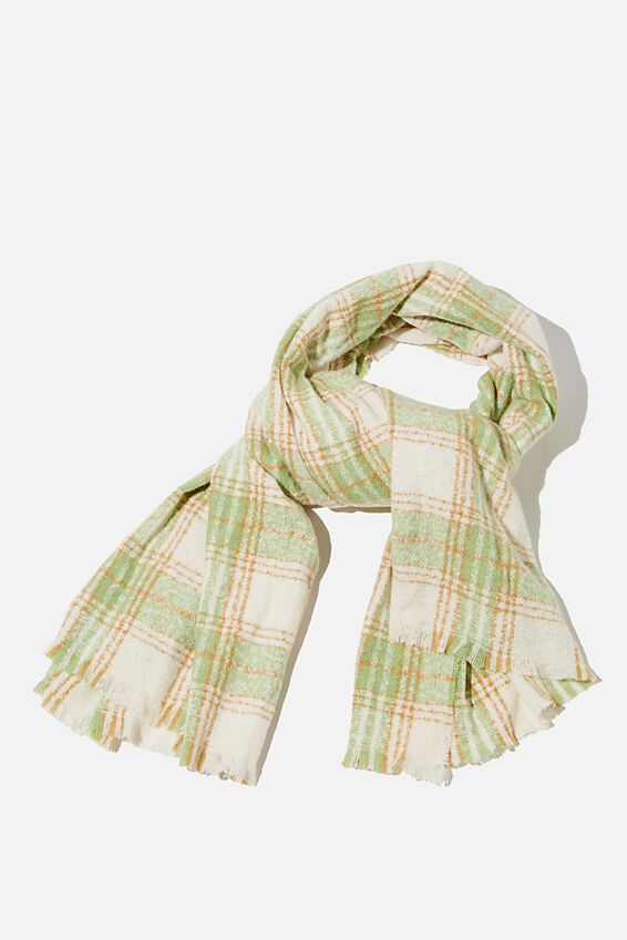 Brady Blanket Scarf, PISTACHIO GREEN MOLLY CHECK