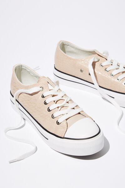 Platform Jodi Low Rise Sneaker, BLUSH EMBOSSED