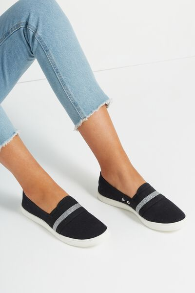 Harlow Slip On, BLACK