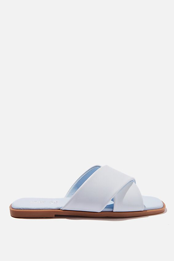 Macey Padded Crossover Sandal, PALE BLUE