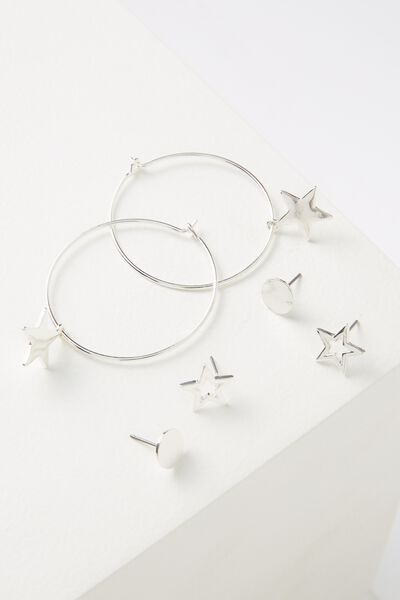 Mintar Star Core Stud Pack, SILVER