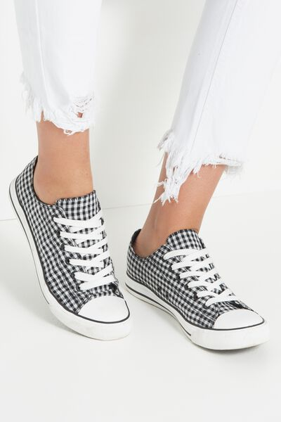Jodi Low Rise Sneaker 1, GINGHAM