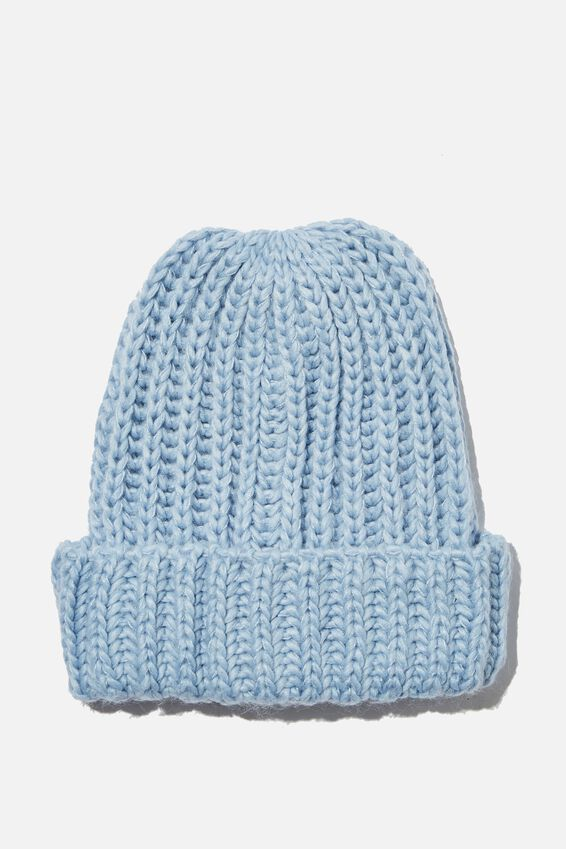 Charlotte Chunky Knit Beanie, CORNFLOWER BLUE