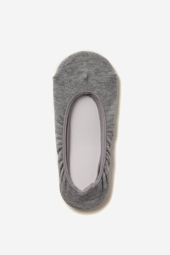 Invisible Sock, GREY MARLE