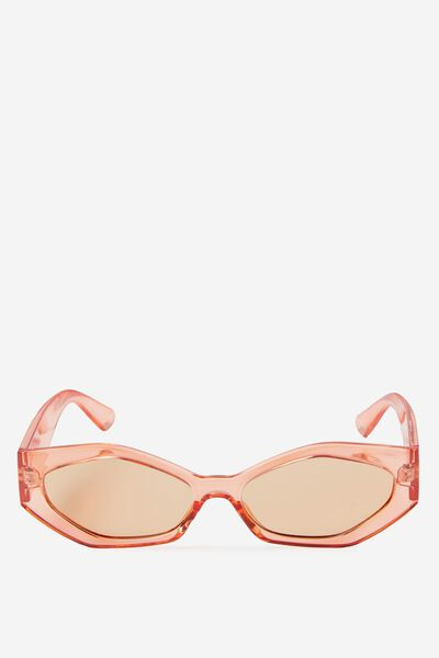 So Sassy Sunglass, CRYSTAL RED/RED