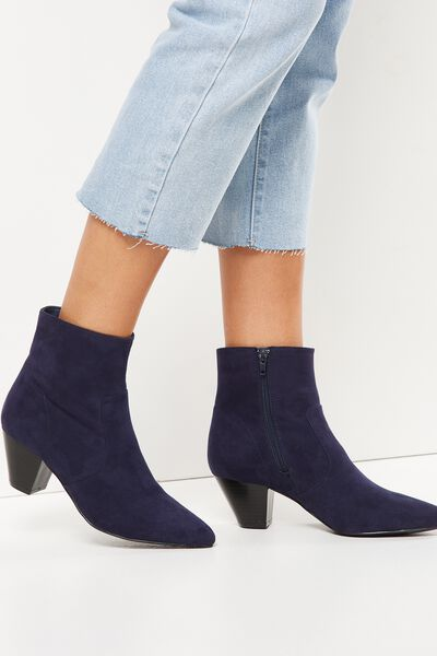 Pitt Pointed Boot, NAVY MICRO