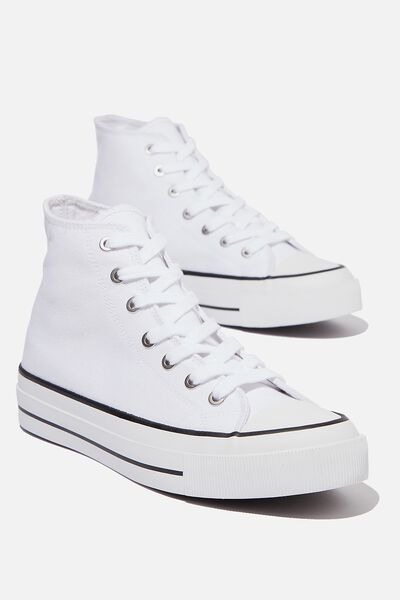 Britt Retro High Top, WHITE
