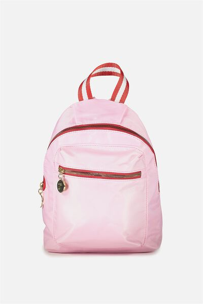 Tiny Traveller Backpack, PINK/RED