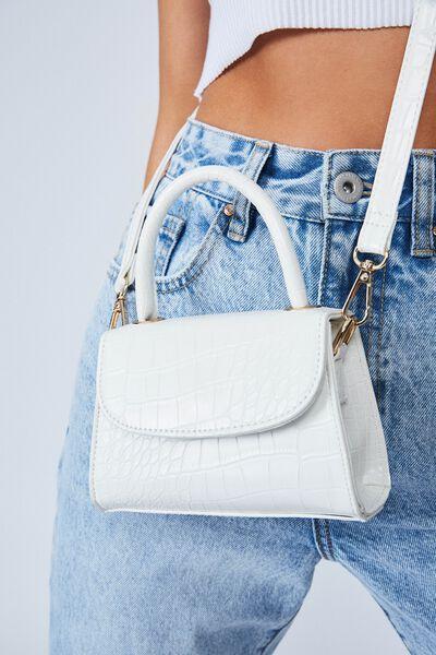 Lola Cross Body Bag, WHITE TEXTURE