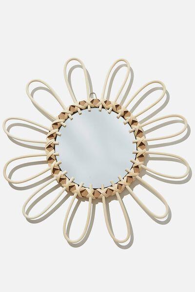 Rattan Wall Mirror, DAISY