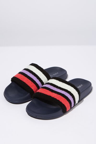Wild Slide, SPORTY STRIPE TERRY