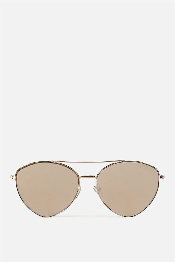 Olivia Fashion Aviator Sunglasses, S.ROSE GOLD
