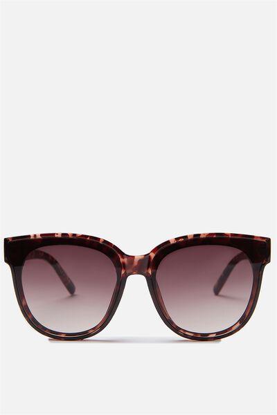 Veronica Full Frame Sunglasses, TORT