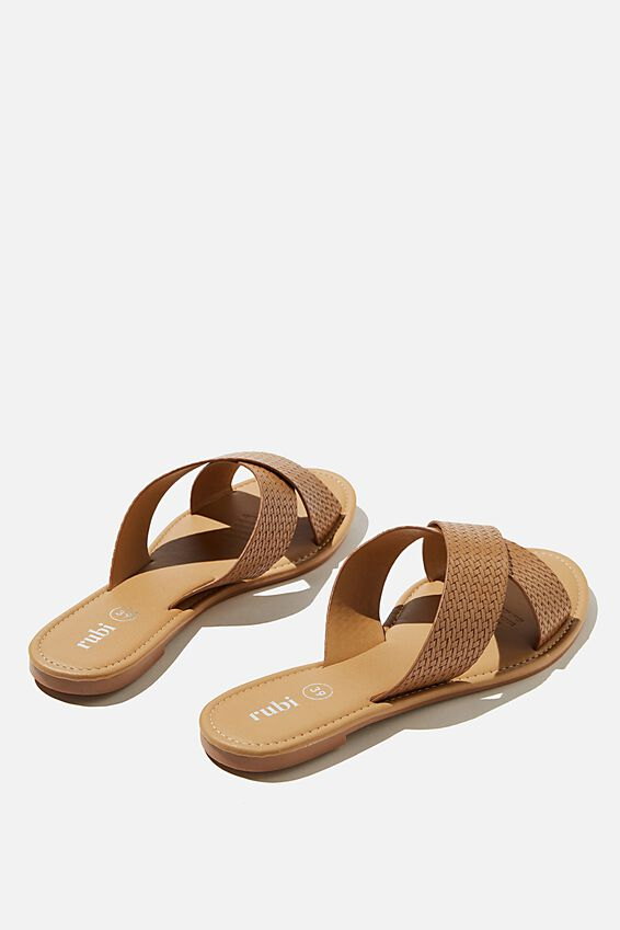 Everyday Scarlett Xover Slide, TAN EMBOSSED PU