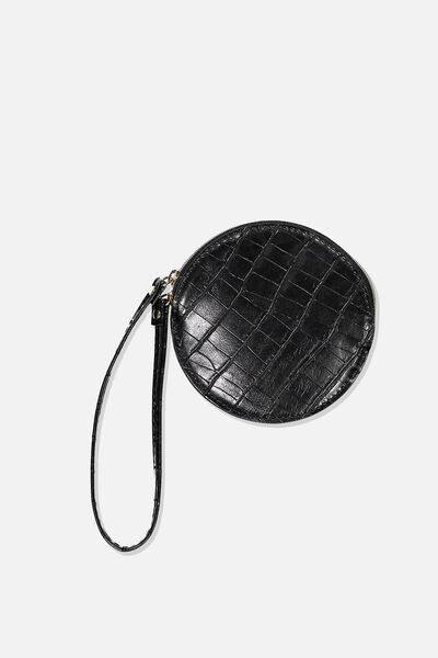 See You Around Coin Purse, BLACK CROC