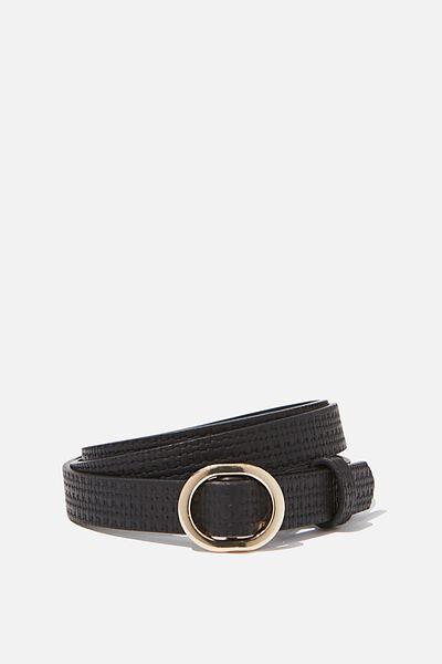 Mila Belt, BLACK TEXTURE