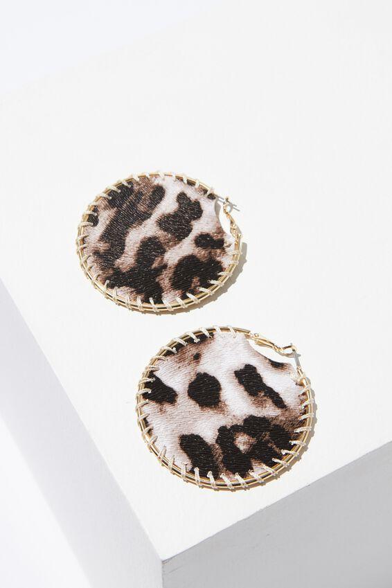 Jane Animal Earring, LEOPARD