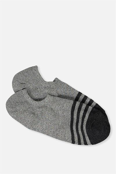 Sports Low Cut Sock, PASTEL RAINBOW/CHARCOAL STRIPE
