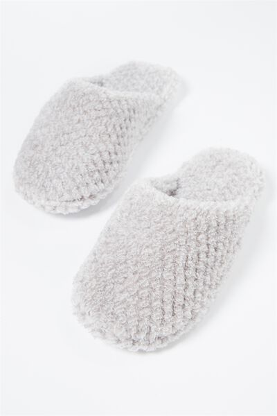 The Plush Slipper, GREY MARLE TEXTURE