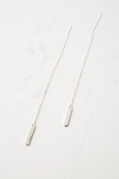 Richmond Chain Earrings, SILVER