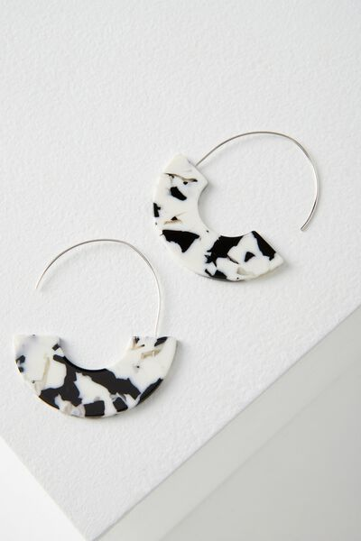 Boston Earring, SNOW TORT