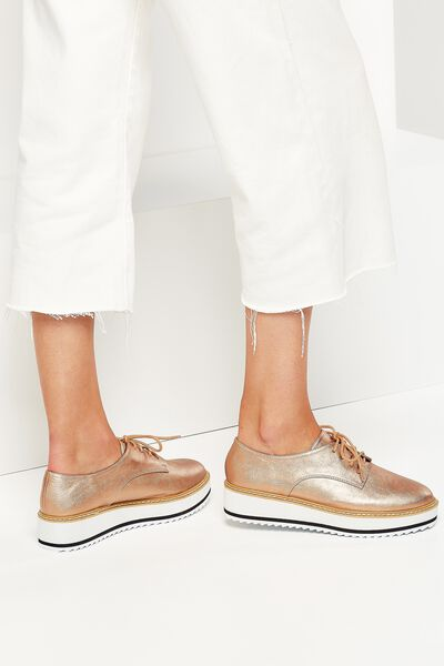 Alba Oxford Wedge Lace Up, ROSE GOLD