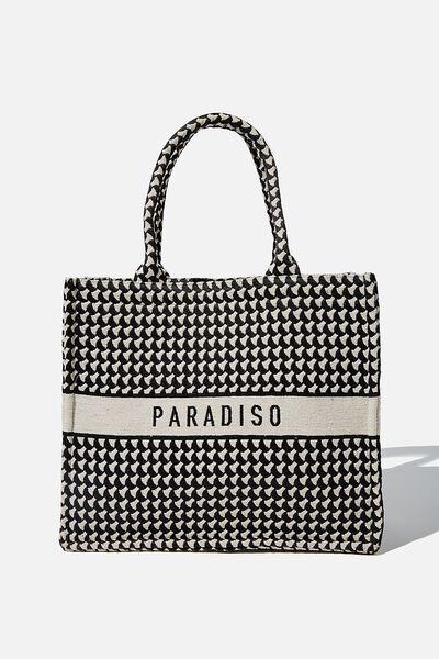 Weekender Tote Bag, MONO/PARADISO