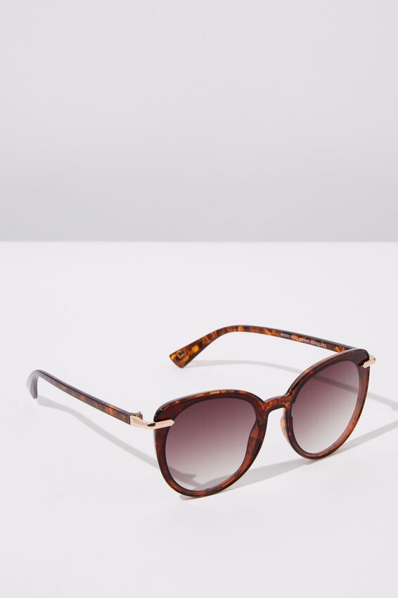 Missy Full Frame Sunglasses, TORT