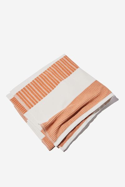 Bondi Rectangle Towel, HONEY PINK HORIZONTAL STRIPE