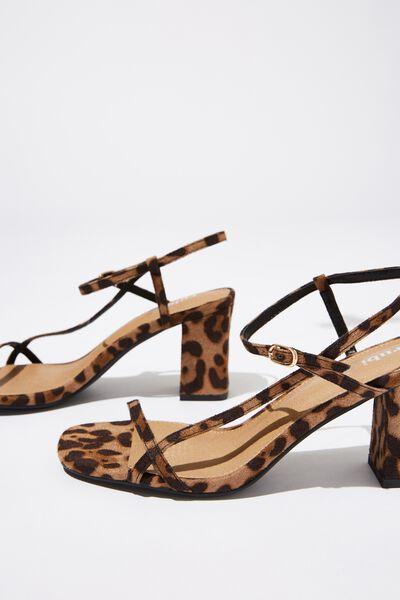 Hannah Thin Strap Heel, LEOPARD