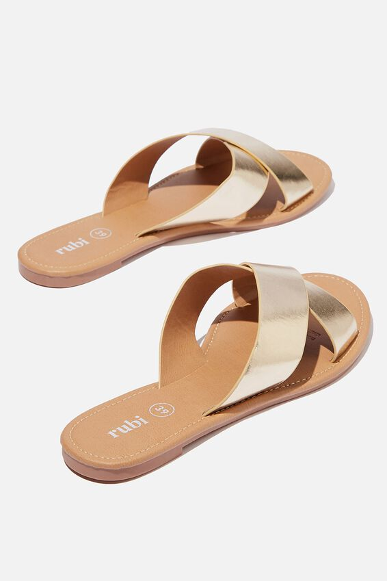 Everyday Scarlett Xover Slide, METALLIC GOLD