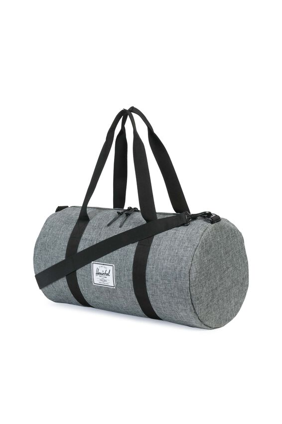Herschel Sutton Mid-Volume Duffle Bag, RAVEN CROSSHATCH/BLACK