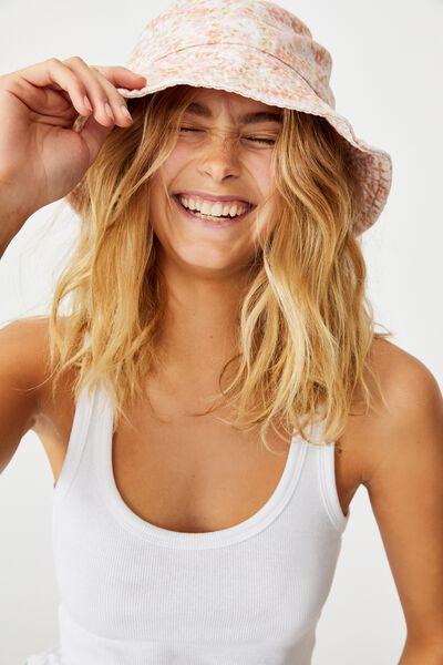 Bianca Bucket Hat, ORANGE RITA FLORAL