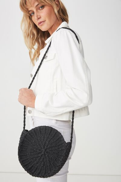 Summer Circle Bag, BLACK