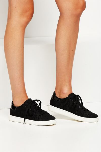 Cathryn Knit Sneaker, BLACK MESH