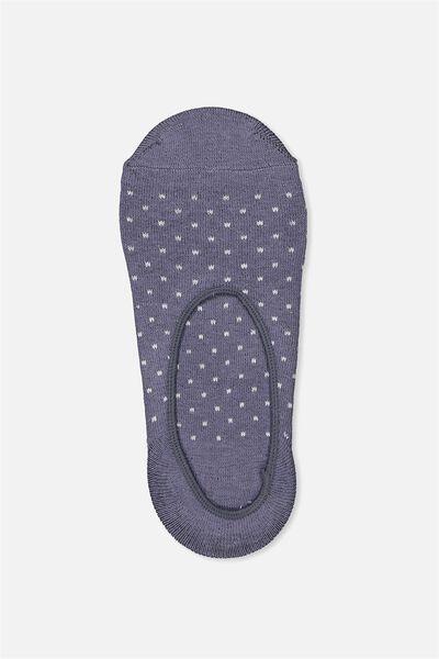 Invisible Sock, STORM BLUE SPOT