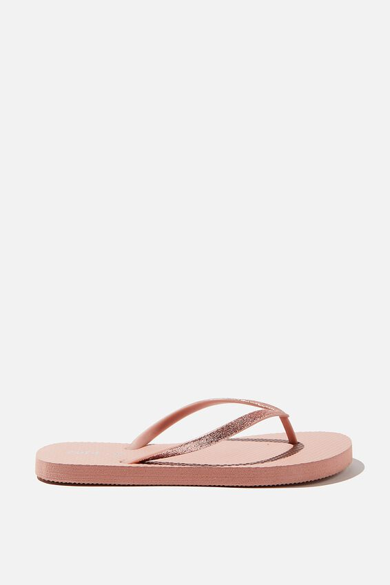 The Rubi Flip Flop, DUSTY ROSE GLITTER
