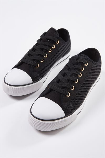 Jodi Low Rise Sneaker 1, BLACK MESH