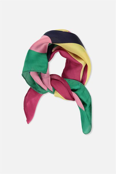 Soho Satin Scarf, MULTI SPLICE BRIGHT