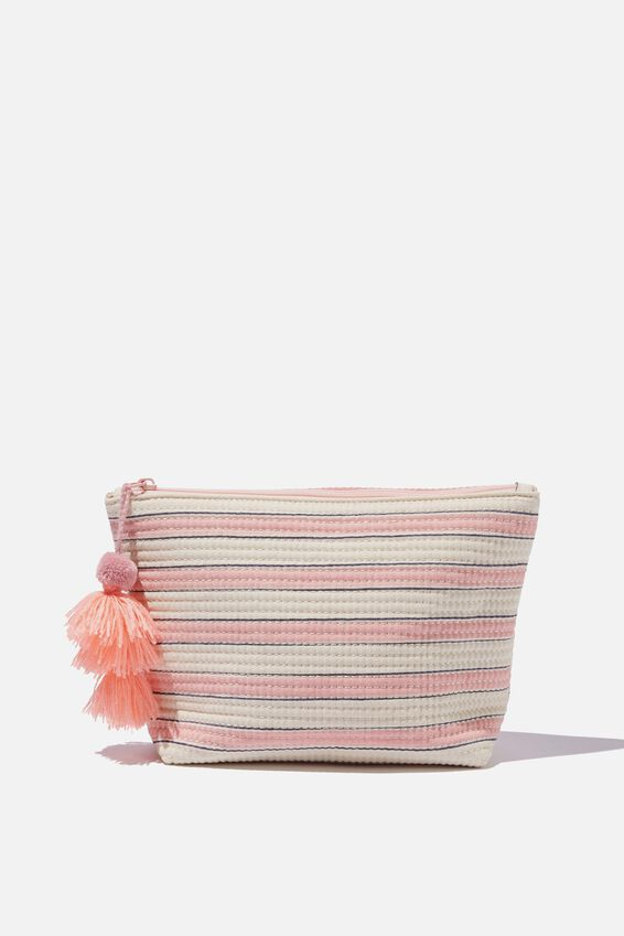 Everyday Pouch, PINK STRIPE