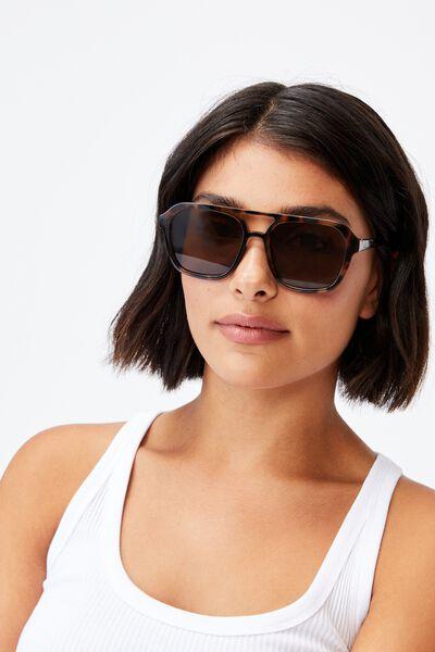 Jamie Aviator Sunglasses, TORT