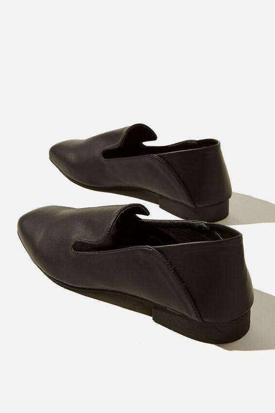 Pacey Structured Slipper, BLACK SMOOTH PU