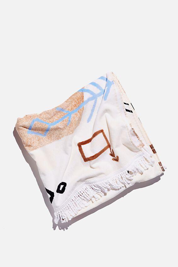 Bondi Rectangle Towel, MOROCCAN RUG PRINT