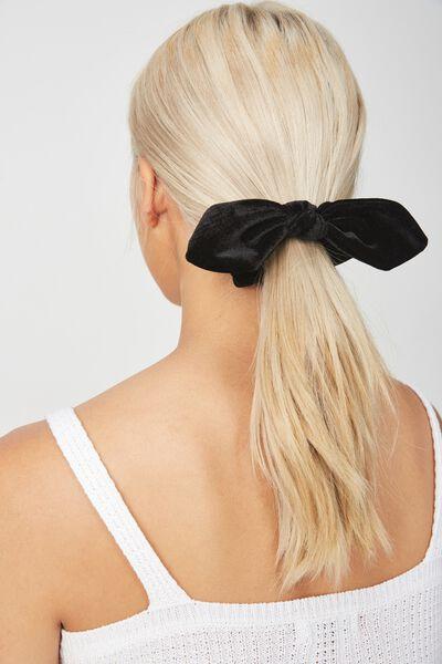 Tribecca Tie Scrunchie, BLACK VELVET